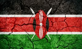 Republic of Kenya flag Stock Images