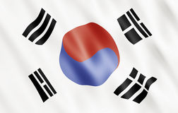 Republic of Korea Flag Stock Photography