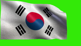 Republic of Korea, Flag of South Korea - LOOP Stock Image