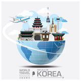 Republic Of Korea Landmark Global Travel And Journey Infographic. Vector Design Template Stock Photo