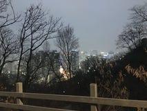 Night View on the Peak of Nanshan Mountain, royalty free stock images