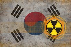 Republic of Korea South Korea radioactive threat. Radiation hazard concept. Stock Images