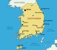 Republic of Korea - vector map Stock Images