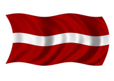 Republic of Latvia Flag Stock Image