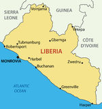 Republic of Liberia - vector map Stock Photo