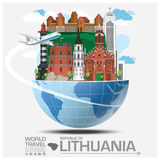 Republic Of Lithuania Landmark Global Travel And Journey Infogra. Phic Vector Design Template Royalty Free Stock Photography