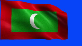 Republic of Maldives, Flag of Maldives - LOOP Royalty Free Stock Photo