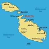 Republic of Malta - map of country - vector Stock Photos