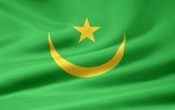 Republic of Mauritania flag. Islamic Republic of Mauritania flag blowing in wind Stock Photos