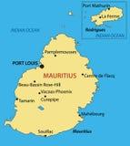 Republic of Mauritius -  vector map Stock Photo