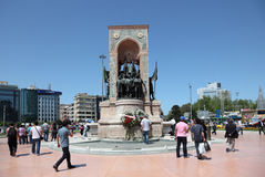 Republic Monument in Istanbul Royalty Free Stock Photos