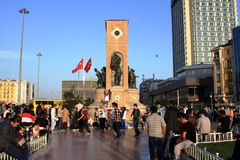 Republic Monument at Taksim Square Stock Image
