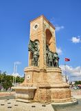 The Republic Monument. Taksim Square, Beyoglu district. Istanbul stock image