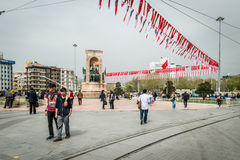 Republic Monument at Taksim Square Royalty Free Stock Photos
