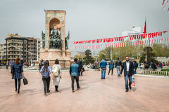 Republic Monument at Taksim Square Royalty Free Stock Photo