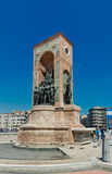 Republic Monument at Taksim Square Stock Photography