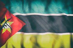 Republic of Mozambique flag waving Royalty Free Stock Image
