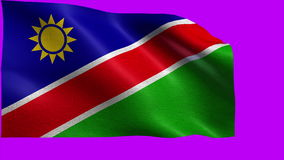 Republic of Namibia, Flag of Namibia - seamless LOOP stock footage