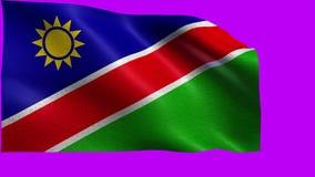 Republic of Namibia, Flag of Namibia - seamless LOOP royalty free illustration