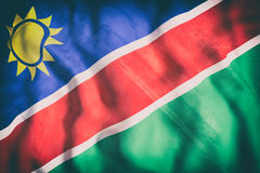 Republic of Namibia flag waving Royalty Free Stock Images