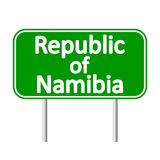 Republic of Namibia road sign. Stock Photo