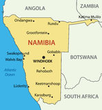 Republic of Namibia -  vector map Stock Image