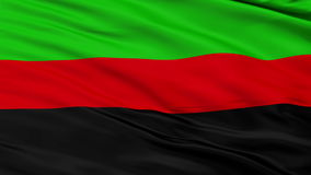 Republic of New Afrika Micronation Close Up Waving Flag stock video