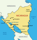 Republic of Nicaragua - map of country - vector Royalty Free Stock Image