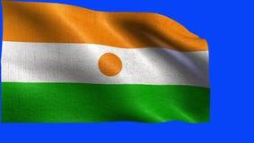 Republic of Niger, Flag of Niger - seamless LOOP stock footage
