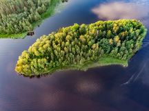 Free Republic Of Karelia. Russia. Karelian Islands From Above Panorama With Drone. Stock Photos - 154473593