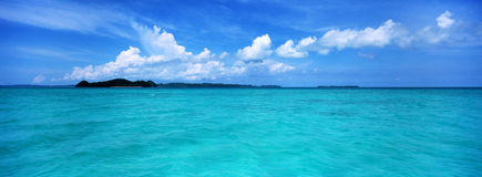 Republic of Palau ocean scenery Royalty Free Stock Image