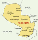 Republic of Paraguay - vector map Stock Photo