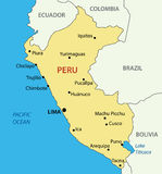Republic of Peru - vector map of country Stock Image
