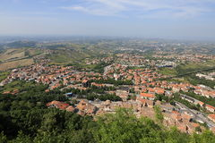 The Republic of San Marino. General view Royalty Free Stock Images