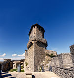 Republic of San Marino internal garden of Guaita tower, Rocca. Tower or First tower royalty free stock images