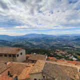 Republic of San Marino and Italy, roofs, cloudy day Royalty Free Stock Images