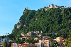 Republic of San Marino view Stock Images