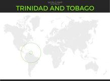 Trinidad and Tobago Location Map Stock Photography