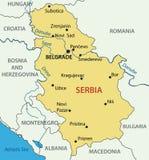 Republic of Serbia - map - vector Stock Photo