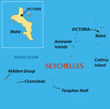 Republic of Seychelles - vector map Stock Images