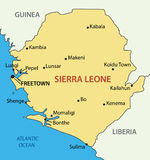 Republic of Sierra Leone - vector map Stock Image