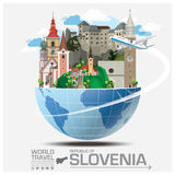 Republic Of Slovenia Landmark Global Travel And Journey Infograp Stock Photography