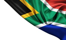Republic of South Africa state flag. Isolated royalty free stock image