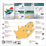 Republic Of South Africa Travel Guide Book Business Infographic. With Map Vector Design Template Stock Photos
