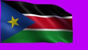 Republic of South Sudan, Flag of South Sudan - seamless LOOP stock illustration