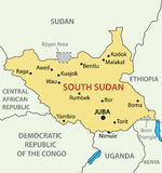 Republic of South Sudan - map - vector Royalty Free Stock Photo
