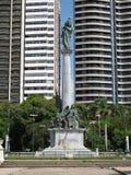 Republic Square. Statue - Brazil - Praca da Republica Royalty Free Stock Photo