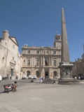 Republic Square in Arles. France Stock Image