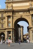 Republic Square in Florence, Italy royalty free stock images