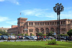 Republic Square and The Government of Armenia in Yerevan, Armeni Stock Photography
